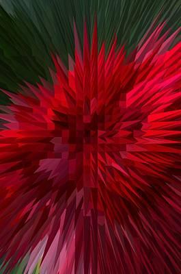 Exploding Rose Art Print