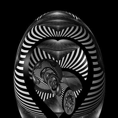 Digital Art - Exploration Into The Unknown Bw by Barbara St Jean