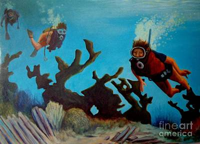 Water Sports Poster Painting - Exploration by John Malone