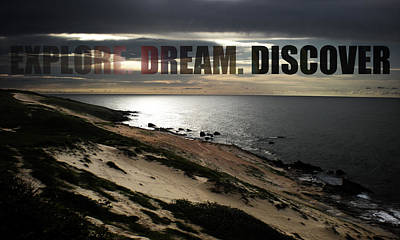 Text Photograph - Explore. Dream. Discover by Nicklas Gustafsson