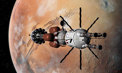 Explorer At Mars Part 1 Art Print by David Robinson