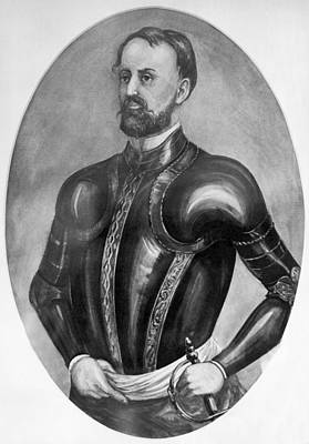 Explorer Hernando De Soto Art Print by Underwood Archives