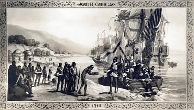 Photograph - Explorer Juan Cabrillo by Underwood Archives