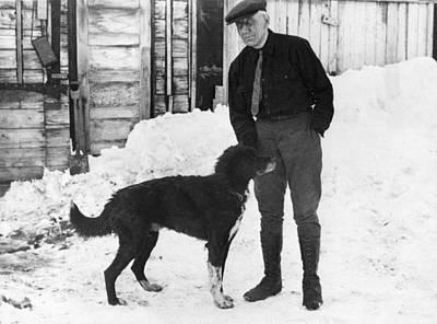 Senior Dog Photograph - Explorer Roald Amundsen by Underwood Archives