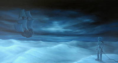Pirate Ship Painting - Explorers by Michel Sehstedt