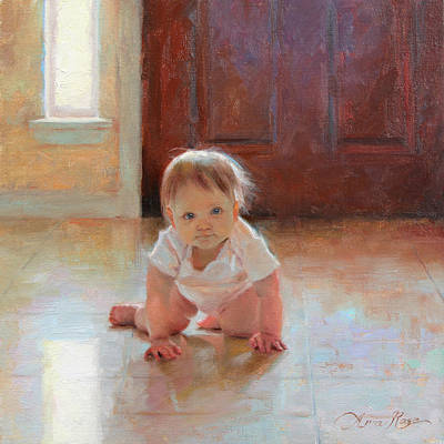Figurative Painting - Exploring by Anna Rose Bain