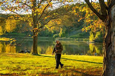 Exploring Autumn Light Print by Steve Harrington