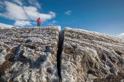 Social Issues Photograph - Exploring Svinafellsjokull Glacier by Panoramic Images