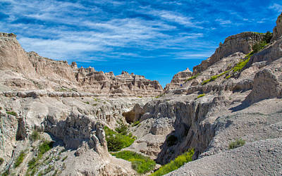 Photograph - Exploring The Badlands by John M Bailey