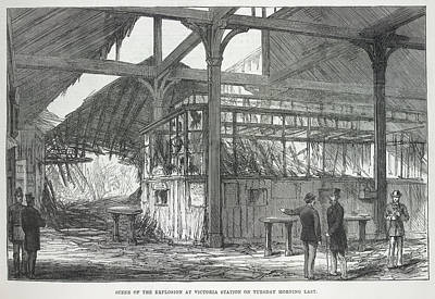 Explosion At Victoria Station Print by British Library