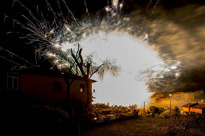Photograph - Explosion by Enrico Pelos