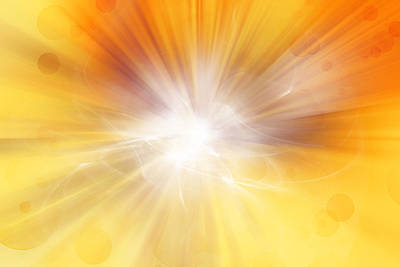 Sun Rays Digital Art - Explosion  by Les Cunliffe