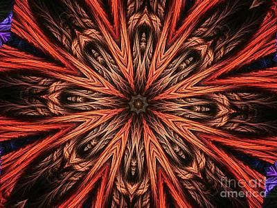 Explosion Of A Carrot  Art Print by Fania Simon