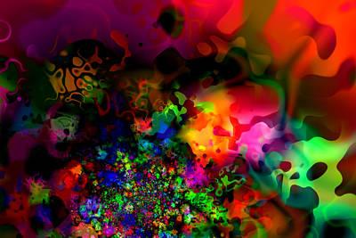 Playful Digital Art - Explosion Of Colour by Hakon Soreide