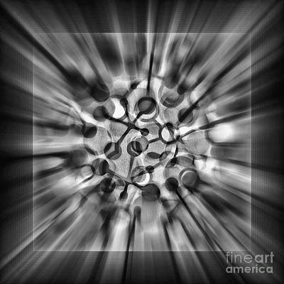 Digital Art - Explosive Abstract Black And White By Kaye Menner by Kaye Menner
