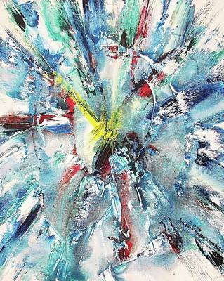 Explosive Two Art Print by Suzanne  Marie Leclair