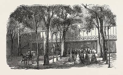 Walkway Drawing - Expo 1855. Walkway Of The Rotunda Annex by French School