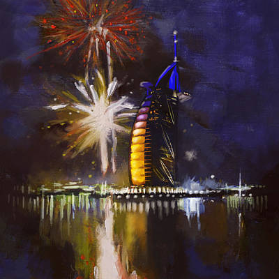 Fireworks Painting - Expo Celebrations by Corporate Art Task Force