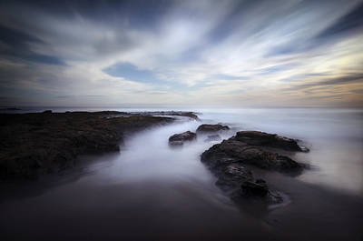 Exposed At Shaw's Cove Print by Sean Foster