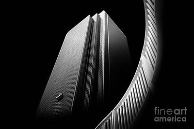 Black And White Abstract Photograph - Express Elevator by Az Jackson