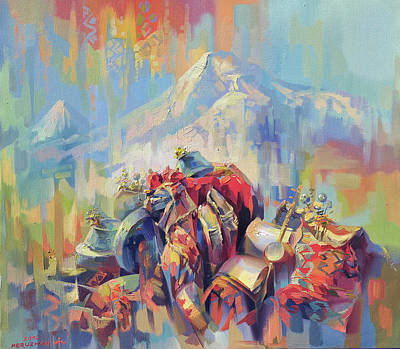 Painting - Expression Of Armenia by Meruzhan Khachatryan