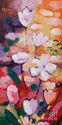 Expressionist Painting - Expressionist Flowers by Lutz Baar