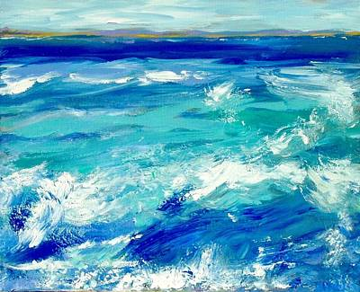 Turbulent Skies Painting - Expressive Sea  by JC Strong