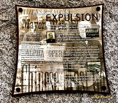 Photograph - Expulsion Of Chinese At Tacoma Wa by Sadie Reneau