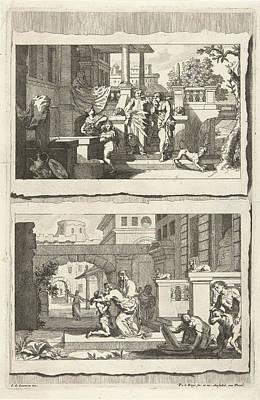 Water Jug Drawing - Expulsion Of Hagar And Ishmael And The Return by Pieter Van Den Berge