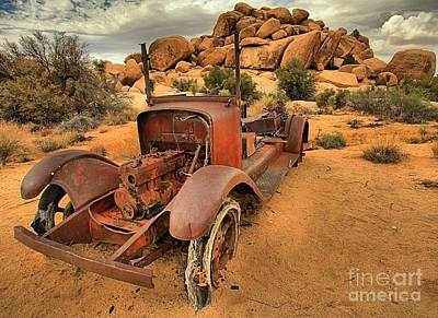 Mining Truck Photograph - Extended Parking by Adam Jewell