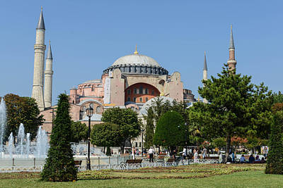 Photograph - Exterior Of The Hagia Sophia In Sultanahmet Istanbul by Brandon Bourdages