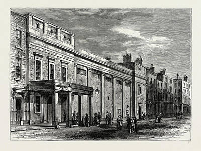 Tottenham Drawing - Exterior Of The Tottenham Street Theatre by Litz Collection