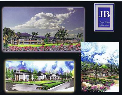 Painting - Exterior Renderings by Jerry Bates