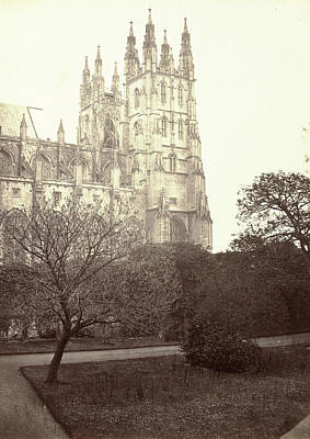 Austin Drawing - Exterior View Of Canterbury Cathedral by Artokoloro