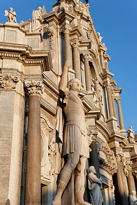 Exterior View Of The Sant Agata Art Print