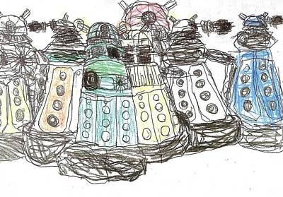 Matthew Joseph Williams Drawing - Exterminate by Artists With Autism Inc