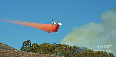 Photograph - Extinguishing The Fire On San Bruno Mountain Near San Francisco II by Jim Fitzpatrick