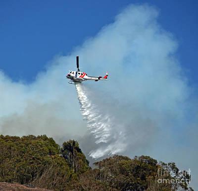 Photograph - Extinguishing The Fire On San Bruno Mountain Near San Francisco IIi by Jim Fitzpatrick