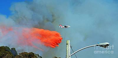 Photograph - Extinguishing The Fire On San Bruno Mountain Near San Francisco IIII by Jim Fitzpatrick