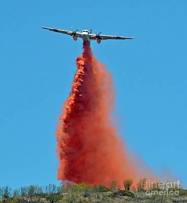 Photograph - Extinguishing The Fire On San Bruno Mountain Near San Francisco by Jim Fitzpatrick