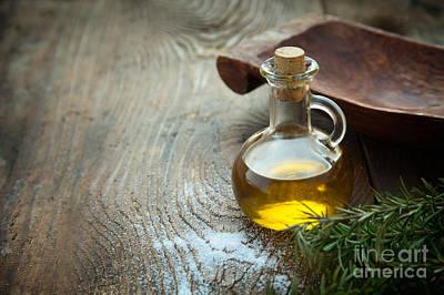 Extra Virgin Olive Oil  Art Print by Mythja  Photography