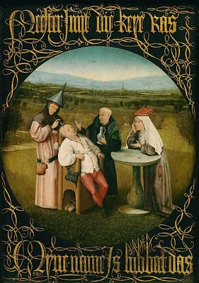 Extracting The Stone Of Madness Art Print by Hieronymus Bosch