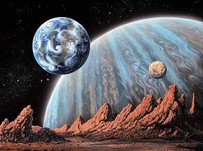 Extrasolar Photograph - Extrasolar Planets by Richard Bizley
