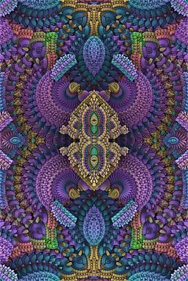 Mandelbulb Digital Art - Extravaganza by Lyle Hatch