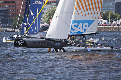 Photograph - Extreme 40 Catamaran Racing 1 by Steve Purnell