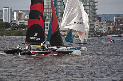 Photograph - Extreme 40 Catamaran Racing 2 by Steve Purnell