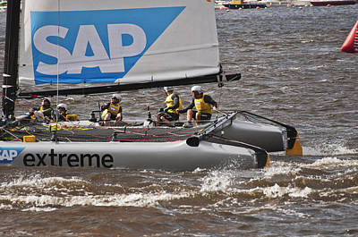 Photograph - Extreme 40 Catamaran Racing 5 by Steve Purnell