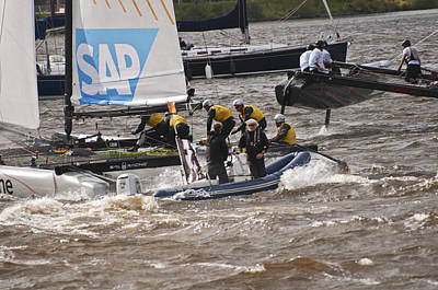 Photograph - Extreme 40 Catamaran Racing 6 by Steve Purnell