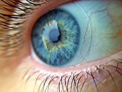 Extreme Close Up Of Human Eye Art Print by Miroslav Hlousek / Eyeem