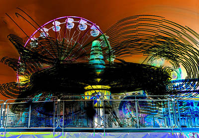 Photograph - Extreme Fair Rides Work One by David Lee Thompson